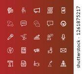 editable 25 speak icons for web ... | Shutterstock .eps vector #1261875217