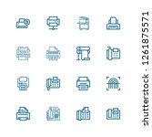 editable 16 printout icons for...   Shutterstock .eps vector #1261875571