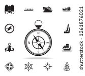 compass icon. detailed set of...