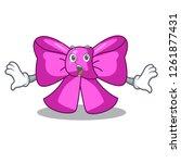 surprised bow tie in character...   Shutterstock .eps vector #1261877431