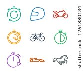 9 race icons. trendy race icons ... | Shutterstock .eps vector #1261880134