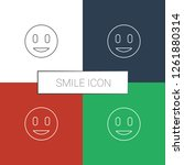 smile icon white background.... | Shutterstock .eps vector #1261880314
