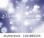 soft christmas background with... | Shutterstock . vector #1261883224