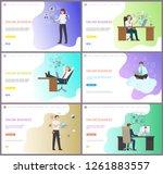 online business performance ... | Shutterstock .eps vector #1261883557