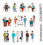 people learn new information... | Shutterstock . vector #1261883977