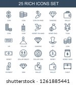 25 rich icons. trendy rich... | Shutterstock .eps vector #1261885441
