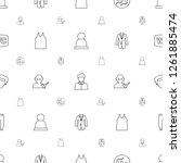male icons pattern seamless... | Shutterstock .eps vector #1261885474
