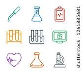 analysis icons. trendy 9... | Shutterstock .eps vector #1261885681