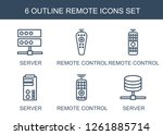 remote icons. trendy 6 remote... | Shutterstock .eps vector #1261885714