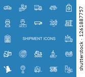 editable 22 shipment icons for... | Shutterstock .eps vector #1261887757