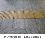 tactile tiles to navigate blind ... | Shutterstock . vector #1261888891