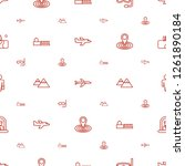 travel icons pattern seamless... | Shutterstock .eps vector #1261890184
