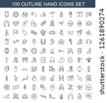 100 hand icons. trendy hand... | Shutterstock .eps vector #1261890274