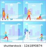 winter activities collection ... | Shutterstock . vector #1261890874