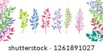 set of several colorful... | Shutterstock . vector #1261891027