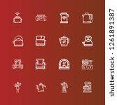 editable 16 maker icons for web ... | Shutterstock .eps vector #1261891387