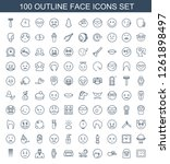 face icons. trendy 100 face... | Shutterstock .eps vector #1261898497