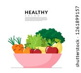 healthy lifestyle concept.... | Shutterstock .eps vector #1261899157