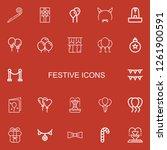 editable 22 festive icons for... | Shutterstock .eps vector #1261900591