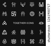 editable 22 together icons for... | Shutterstock .eps vector #1261900717