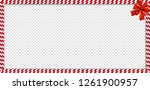 christmas  new year rectangle... | Shutterstock .eps vector #1261900957