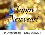 happy new year text on a...   Shutterstock . vector #1261905274