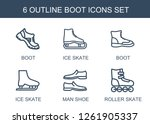 6 boot icons. trendy boot icons ... | Shutterstock .eps vector #1261905337
