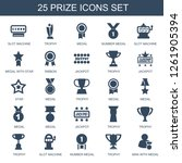 25 prize icons. trendy prize... | Shutterstock .eps vector #1261905394