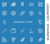 editable 22 adhesive icons for... | Shutterstock .eps vector #1261905457