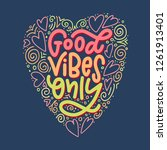 lettering composition of good... | Shutterstock .eps vector #1261913401