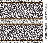 leopard seamless pattern. tiger ... | Shutterstock .eps vector #1261914811