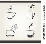 set of beverages and drinks... | Shutterstock .eps vector #126191831