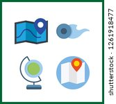 4 geography icon. vector... | Shutterstock .eps vector #1261918477
