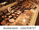 cosmetics arranged in beauty...   Shutterstock . vector #1261918717