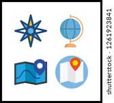 4 geography icon. vector... | Shutterstock .eps vector #1261923841