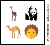 4 wildlife icon. vector... | Shutterstock .eps vector #1261925797