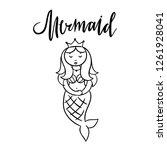 mermaid cute vector... | Shutterstock .eps vector #1261928041