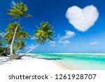 romantic getaway concept  ... | Shutterstock . vector #1261928707