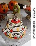Unique Halloween Wedding Cake...