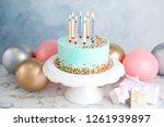 Fresh Delicious Birthday Cake ...