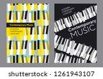 bright poster set for music... | Shutterstock .eps vector #1261943107