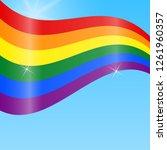lgbt rainbow flag. celebrating...   Shutterstock .eps vector #1261960357