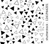 triangles seamless vector eps... | Shutterstock .eps vector #1261966201