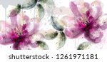 Pink Lily Flowers Banner...