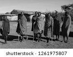 unidentified maasai men on oct... | Shutterstock . vector #1261975807