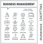 business management line icons | Shutterstock .eps vector #1261977661
