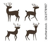 vector flat drawn christmas... | Shutterstock .eps vector #1261978987