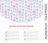 rehabilitation for disabled...   Shutterstock .eps vector #1261990651