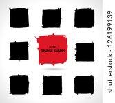 set of grunge vector shapes.... | Shutterstock .eps vector #126199139