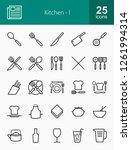 kitchen line icons | Shutterstock .eps vector #1261994314